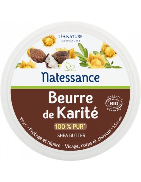 Natessance Beurre de Karité BIO 100 gr protège répare Herboristerie de paris