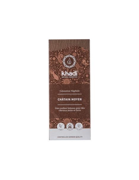 Teinture aux plantes Chatain moyen 100g Khadi