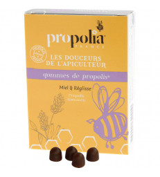 Gommes de Propolis Miel Réglisse Sachet de 45g sous étui Propolia