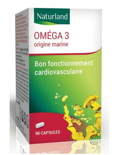 Omega 3 90 capsules Naturland acides gras essentielles Herboristerie de paris