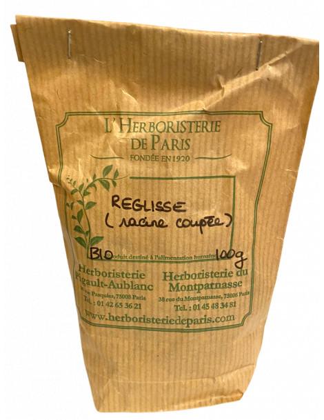 Réglisse Racine Coupée BIO 100g Herboristerie de Paris
