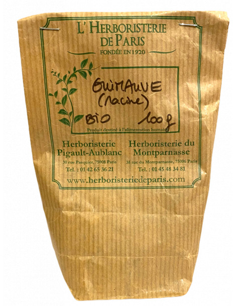 Guimauve racine BIO 100g Tisane Herboristerie de Paris