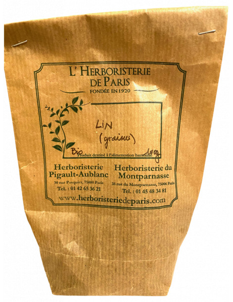 Lin - Graine de lin bio triée 100 gr Herboristerie de Paris