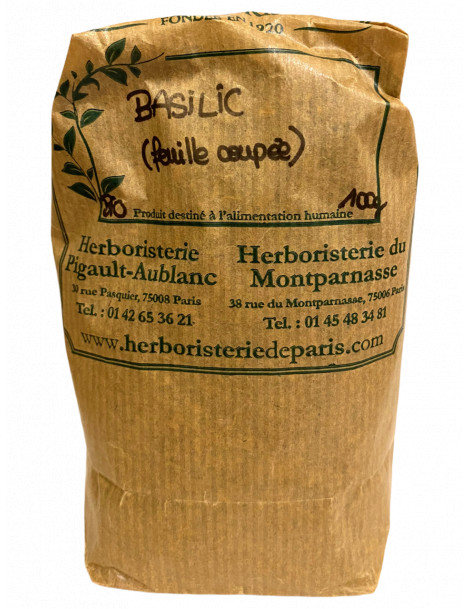 Basilic feuille 100 gr Herboristerie de Paris