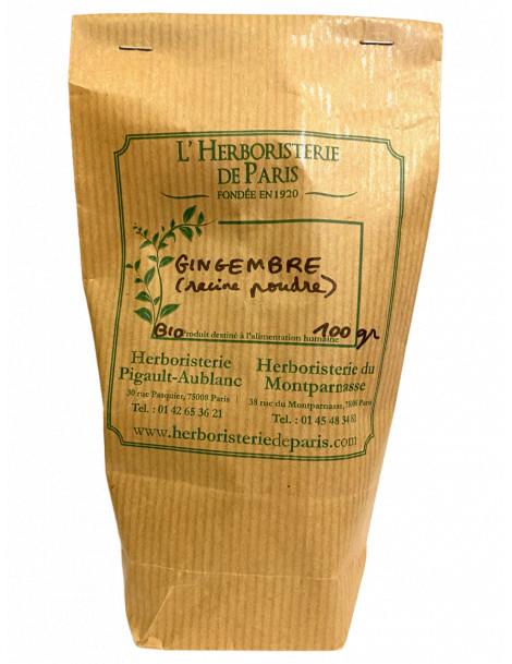GINGEMBRE RACINE BIO POUDRE 100g HERBORISTERIE DE PARIS