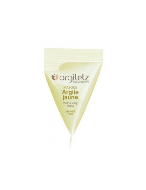 Berlingot masque argile jaune 15ml Argiletz