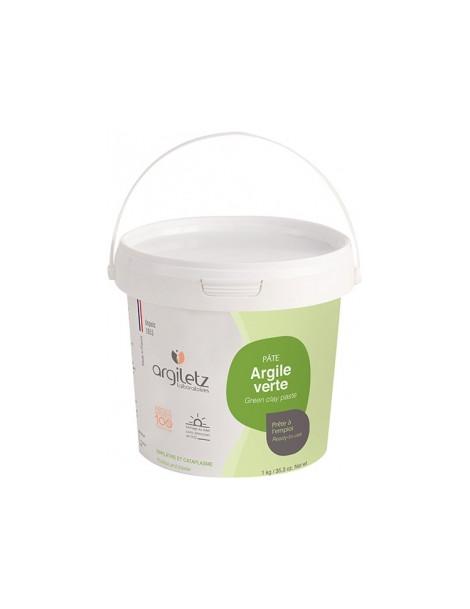 Pot d'argile verte prête à l'emploi 1kg Argiletz