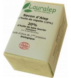 Savon d'Alep enrichi à l'huile de Nigelle 150g Lauralep