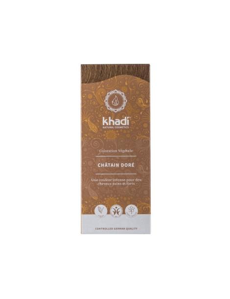 Teinture aux plantes Chatain doré 100g Khadi