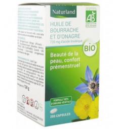 Huiles de Bourrache /Onagre 200 capsules Naturland