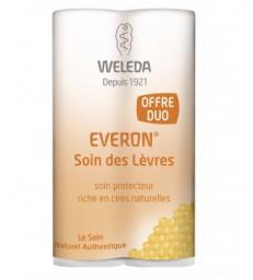 Duo Soin des lèvres Everon riche en cires naturelles 2X4g Weleda