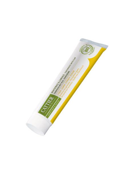 Dentifrice Dentargile reminéralisant au Citron gencives irritées 75ml Cattier