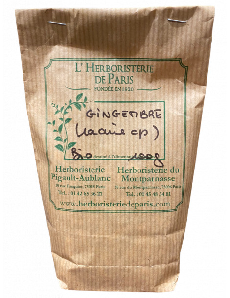 GINGEMBRE GRIS RACINE BIO 100g HERBORISTERIE DE PARIS