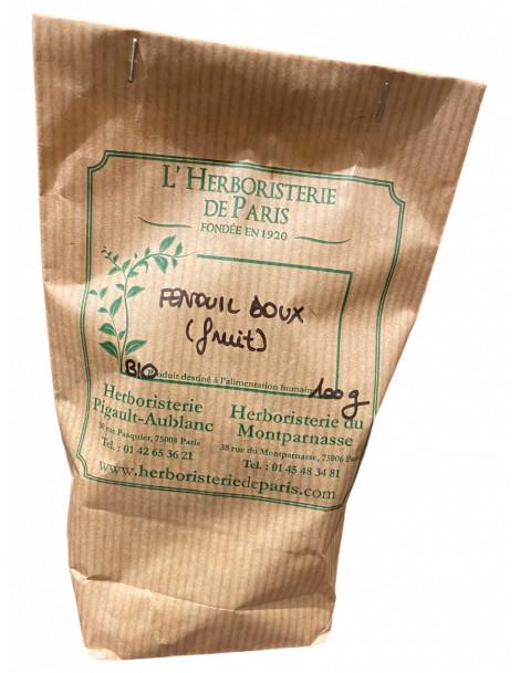 Fenouil Doux fruit trié bio Provence 100 gr Herboristerie de Paris