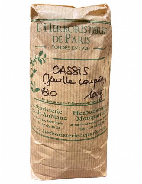 Cassis feuille coupé gros bio 100 gr Herboristerie de Paris élimination articulations