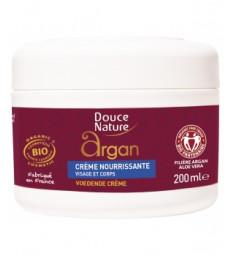 Crème nourrissante visage et corps à l'huile d'Argan et beurre de Karité 200ml Douce Nature