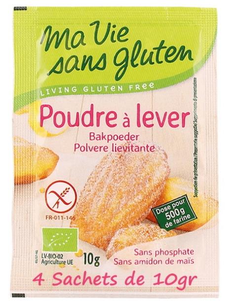 Poudre à lever sans gluten 4x10g Ma Vie Sans Gluten