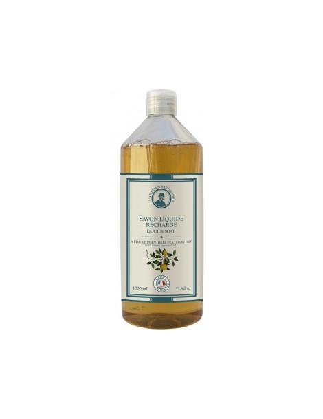 Hygiène Savon liquide à l'huile essentielle de Citron recharge 1L L artisan Savonnier