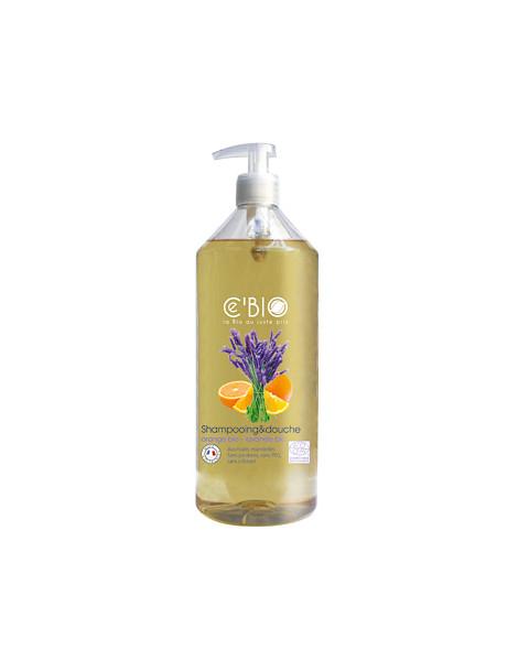 Shampooing douche Orange Lavande 1L C'bio