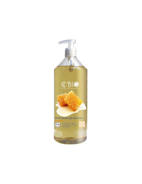 Shampooing douche Miel 1 Litre C'bio