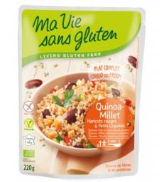 Céréales cuisinées Quinoa Millet, Haricots Rouges et légumes 220g Ma Vie Sans Gluten