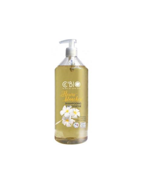 Shampooing douche Fleurs Blanches 1L C'bio