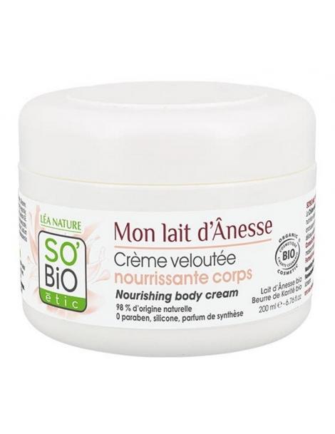 Crème veloutée nourrissante corps Mon lait d'Ânesse 200ml So'Bio étic