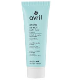 Crème de nuit peau normale et mixte à l'huile de Pépins de Raisin 50ml Avril