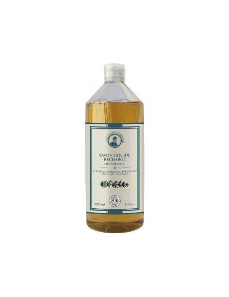 Hygiène Savon liquide à l'huile essentielle de Lavandin recharge 1L L artisan Savonnier
