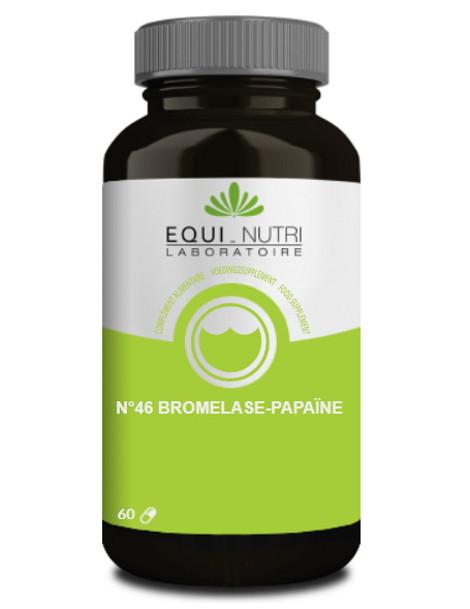 Bromelase Papaïne n°46 60 gélules végétales Equi - Nutri enzymes Herboristerie de paris