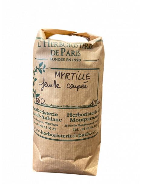 MYRTILLE FEUILLE BIO 100g HERBORISTERIE DE PARIS