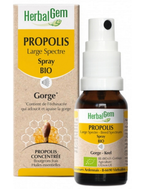 Propolis Large spectre Spray 15ml Herbalgem Gemmobase