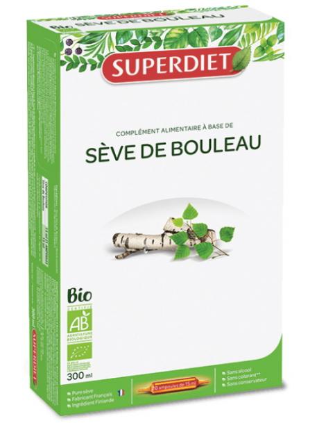 Sève de Bouleau 20 ampoules de 15ml soit 300ml Super Diet