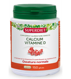 Calcium Vitamine D3 150 gelules Super Diet