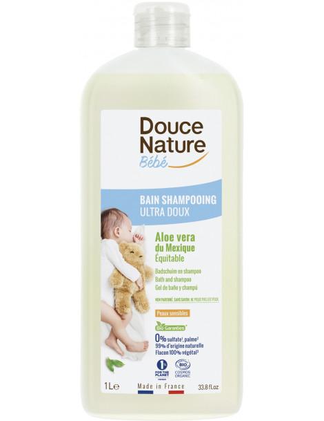 Bain Shampoing Bébé Aloé vera du Mexique 1L Douce Nature