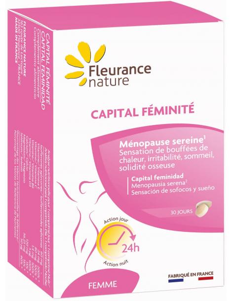 Capital féminité 60 comprimés Jour et Nuit  Fleurance Nature soja ménopause Herboristerie de paris