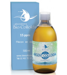 Argent Colloïdal 15 PPM 500ml Bio Colloidal Laboratoire