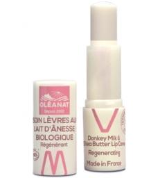 Baume à lèvres au lait d'ânesse régénérant 4,5gr Oleanat