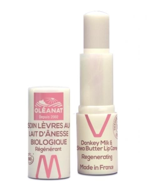 Baume à lèvres au lait d'ânesse régénérant 4,5gr Oleanat Herboristerie de Paris