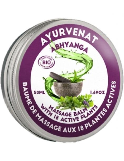 Baume de massage Ayurvédique ABHYANGA aux 18 plantes 50ml Oleanat Herboristerie de Paris