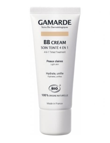 BB crème Soin teinté 4 en 1 Peaux claires 40gr Gamarde Herboristerie de Paris