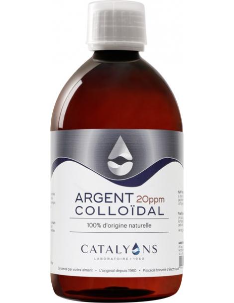 Argent Colloidal 20 PPM ionisé 500 ml Catalyons