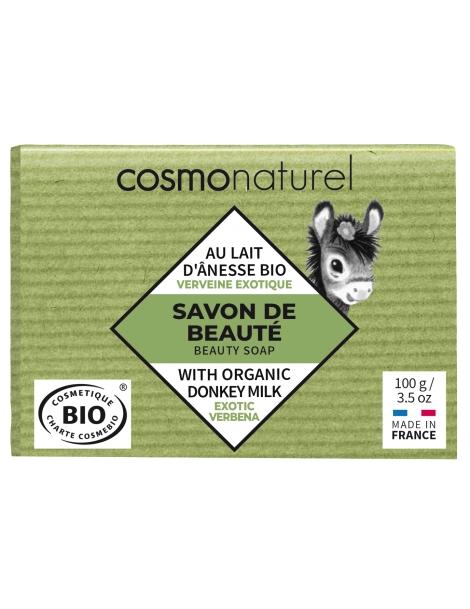 Savon au lait d'ânesse à l'huile essentielle de Verveine 100g Cosmo Naturel