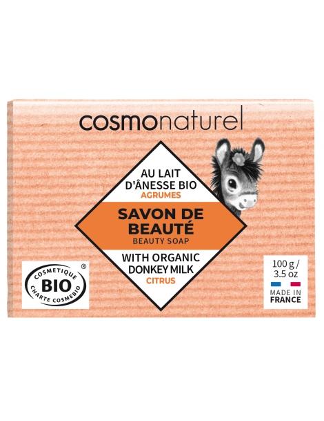 Savon au lait d'ânesse aux huiles essentielles d'Agrumes 100g Cosmo Naturel
