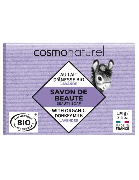 Savon au lait d'ânesse et à l'huile essentielle de Lavande 100g Cosmo Naturel