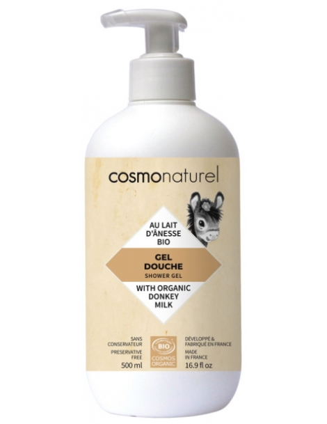 Gel bain douche au lait d'ânesse + HE 500ml Cosmo Naturel