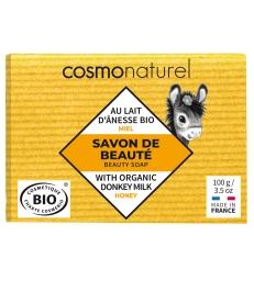 Savon au lait d'ânesse sans Parfum au Miel 100g Cosmo Naturel