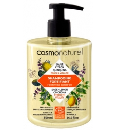 Shampoing Fortifiant Quinquina Sauge Citron 500ml Cosmo Naturel