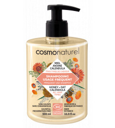 Shampoing usage fréquent Miel Calendula Avoine 500ml Cosmo Naturel
