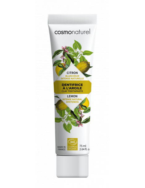 Dentifrice Citron blanchissant 75ml Cosmo Naturel